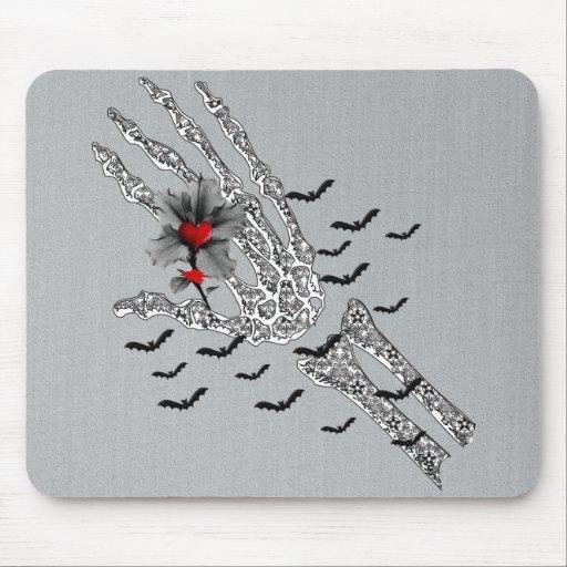 Skeletal Hand Of Love Mousepads