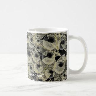 Skeletal Leaf and Bubble Mug