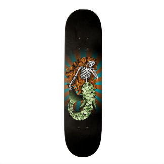 Skeletal Mermaid Skate Board Deck