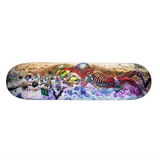 Skeletal Milkshake - Sk8 Art Skate Deck