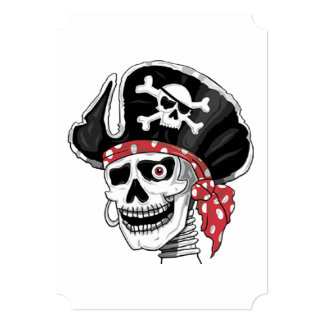 Skeletal Pirate DOD Party Invitations