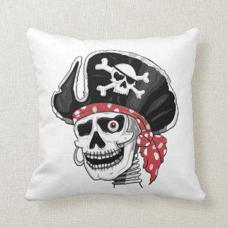 Skeletal Pirate DOD Throw Pillow