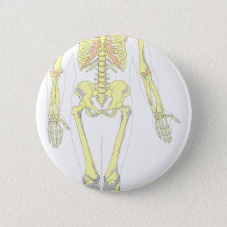Skeleton 2 Inch Round Button