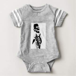 Skeleton #4 baby bodysuit