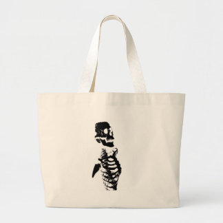 Skeleton #4 large tote bag