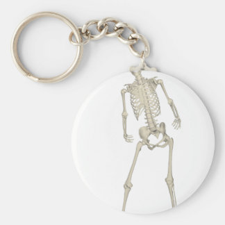 Skeleton #7 basic round button keychain