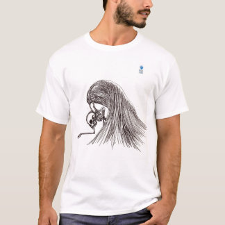 skeleton and wings sketch T-Shirt