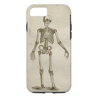 Skeleton Antique Stained Parchment Retro Bones iPhone 7 Case