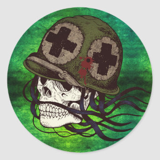 Skeleton Army Soldier Stickers