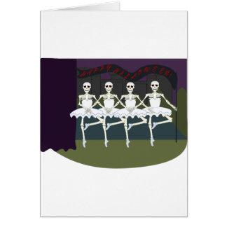 Skeleton Ballerinas Card