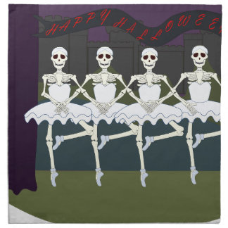 Skeleton Ballerinas Napkin
