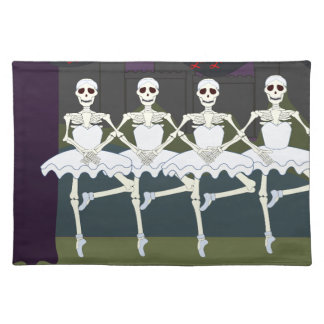 Skeleton Ballerinas Placemat