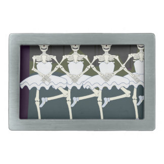 Skeleton Ballerinas Rectangular Belt Buckle