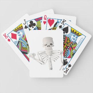Skeleton Bicycle Playing Cards