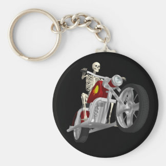 Skeleton Biker / Bike Rider: 3D Model: Keychain
