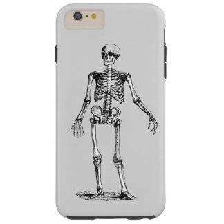 Skeleton, Black and White Halloween Tough iPhone 6 Plus Case