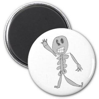 Skeleton Bob 2 Inch Round Magnet