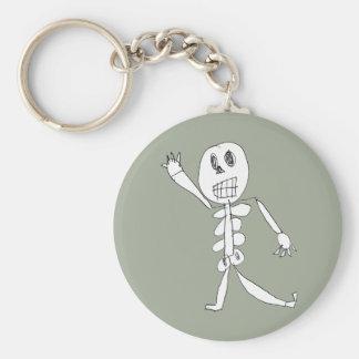 Skeleton Bob Basic Round Button Keychain