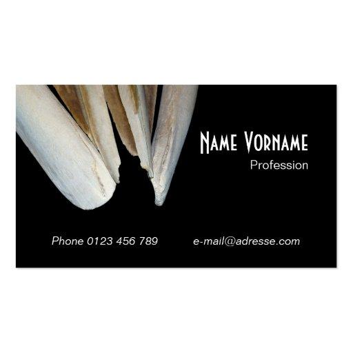 Skeleton bone business card template