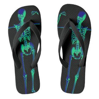 Skeleton bones flip flops
