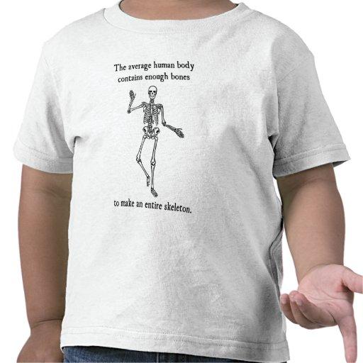 Skeleton Bones in the Average Human Body T-shirts
