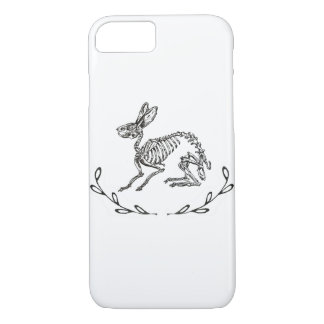 Skeleton Bunny Print Phone Case