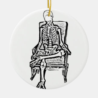 Skeleton Ceramic Ornament