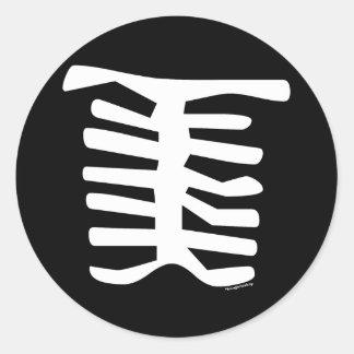 Skeleton Classic Round Sticker