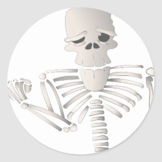 Skeleton Classic Round Sticker