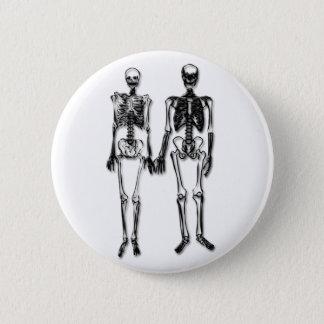 Skeleton Couple 2 Inch Round Button