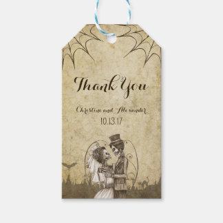 Skeleton Couple for Halloween Wedding Gift Tags
