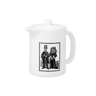 Skeleton Couple - Teapot