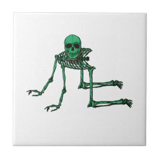 Skeleton Creepy Yoga Skull Dancing Tile