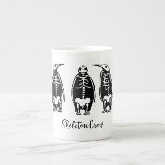 Skeleton Crew Penguin Trio Tea Cup