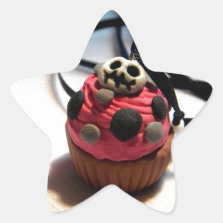 Skeleton Cupcake Star Sticker