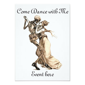 Skeleton Dance with Me invitation