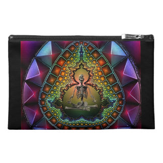 Skeleton Death of Meditation Fractal Travel Accessory Bag