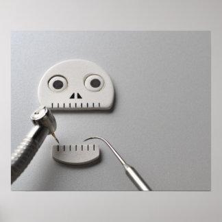 Skeleton Dental Treatment Poster