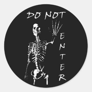 Skeleton (DO NOT ENTER) Sticker