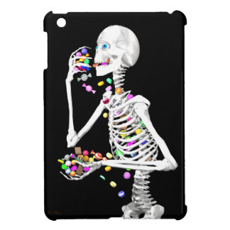 Skeleton Eating Halloween Candy iPad Mini Cases