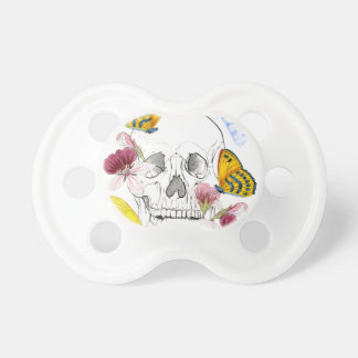 Skeleton Flowers Baby Pacifiers
