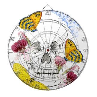 Skeleton Flowers Dartboard