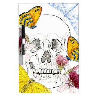 Skeleton Flowers Dry Erase Board