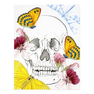 Skeleton Flowers Letterhead