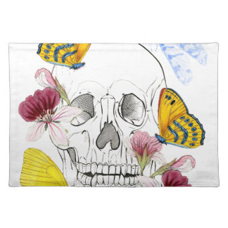 Skeleton Flowers Placemat