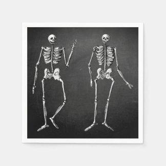 Skeleton Glam Halloween Napkins Disposable Napkin