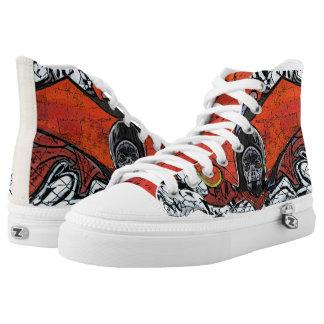 #Skeleton graffiti of shoes /Zipz Shoes