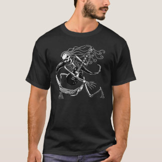 Skeleton Guitarist -crouch T-Shirt