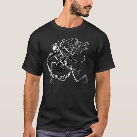 Skeleton Guitarist -crouch T-Shirt
