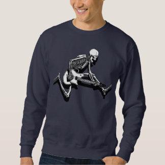 Skeleton Guitarist Jump Pull Over Sweatshirts